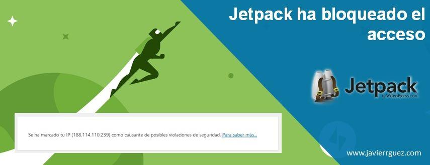 Jetpack ha bloqueado el acceso