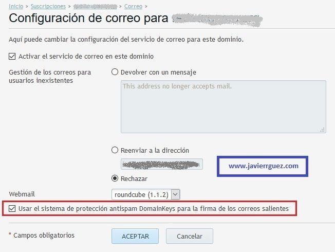 Plesk Activar DomainKeys