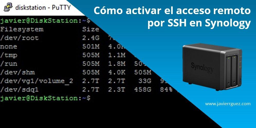 Cómo activar el acceso remoto por SSH en Synology