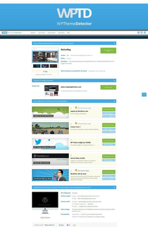 WordPressThemeDetector