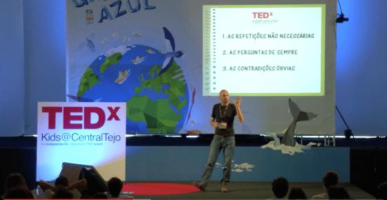 Jo Claeys en la charla TEDxK