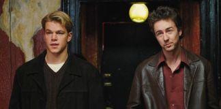 "Matt Damon y Edward Norton en ""Rounders"" (1998)"