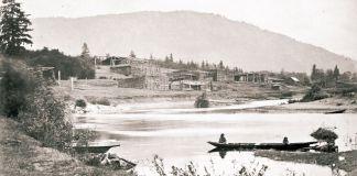 Poblado Quamichan. Foto de aproximadamente el año 1861