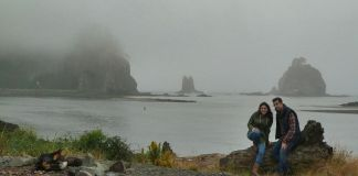 Visitando de nuevo la playa de La Push, en la reserva Quileute, en agosto de 2011