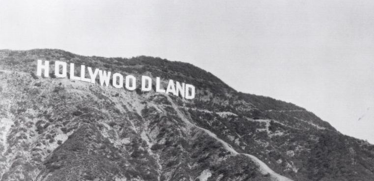 Cartel de Hollywood cuando todavía era Hollywoodland