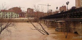 Inundación. Puente Mayor de Valladolid
