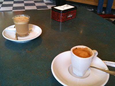 Pausa para un café a media mañana