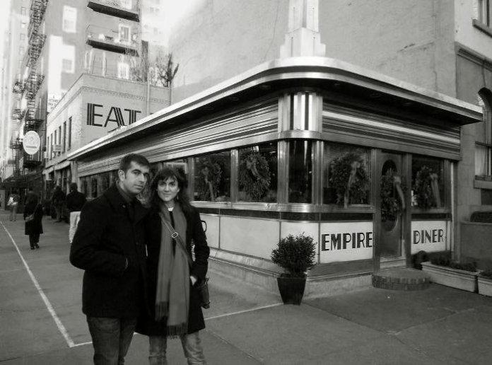 Nosotros en el Empire Diner a comienzos de 2009