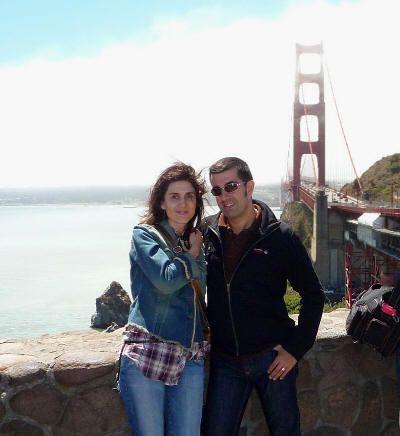 Nosotros en el Vista Point del Golden Gate (San Francisco, California) en agosto de 2009