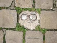 Gracioso detalle en el suelo
