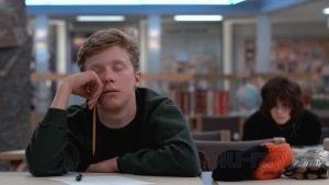 """Anthony Michael Hall en """"El Club de los Cinco"""" (""""The Breakfast Club"""", 1985)"""