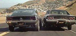"""""""Bullitt"""" (1968): Ford Mustang 390 de 1968 contra Dodge Charger 440 RT 1968"""
