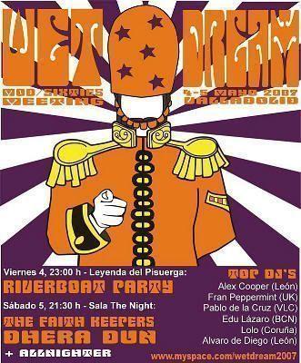 Cartel del festival Wet Dream 2007 (Valladolid, 5 de mayo de 2007)