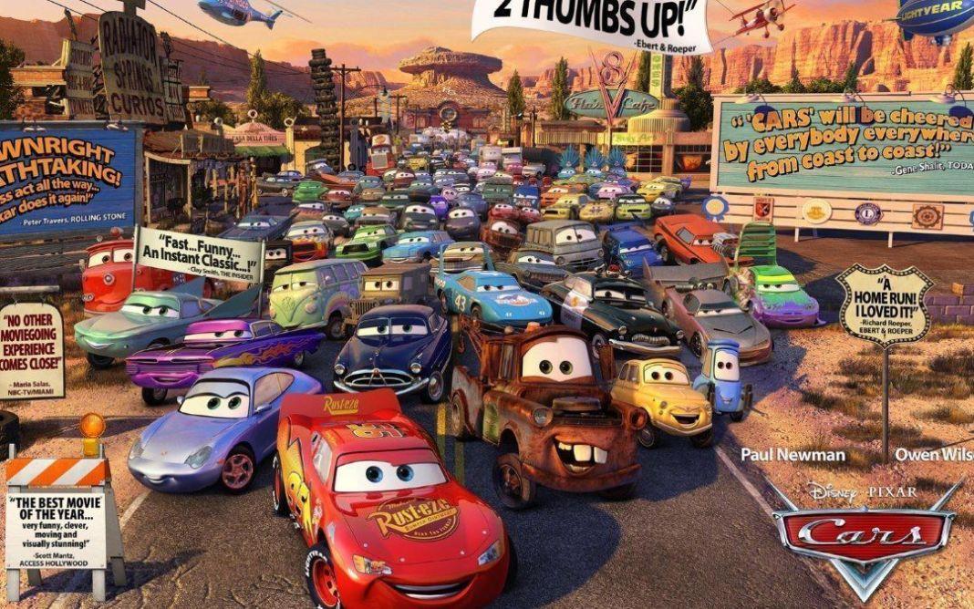 Los coches de la película