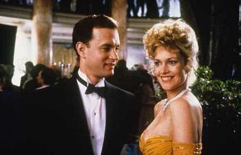 """Tom Hanks y Melanie Griffith en """"La Hoguera de las Vanidades"""" (""""The Bonfire of the Vanities"""")"""