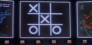 """Jugando al tres en raya en """"Juegos de Guerra"""" (""""WarGames"""", 1983)"""