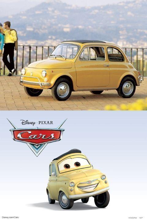 Luigi es en realidad un Fiat 500 de 1957