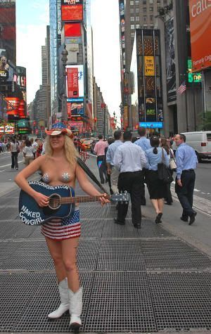 Naked Cowgirl, la vaquera desnuda de Manhattan