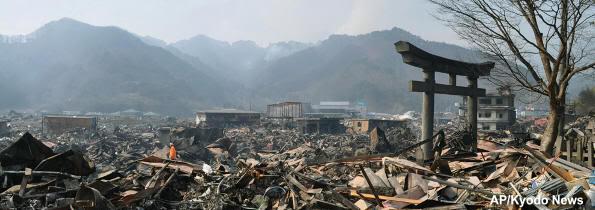 Imagen de Otsuchi (Iwate) arrasada por el tsunami del 11 de marzo de 2011
