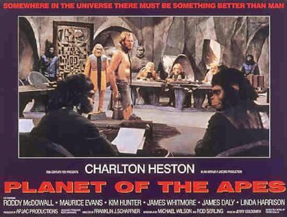 """Cartel original de """"El Planeta de los Simios"""""""