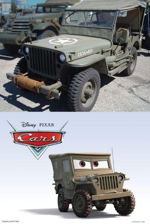 Sarge es en realidad un Jeep Willys