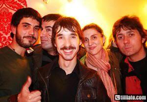 Con Axel, de SIDONIE, y Roberto Terne, líder de DHERA DUN en el Berlanga (Valladolid, 2008)
