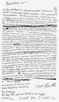 Nota dejada por Kurt Cobain