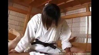 Karate master pegging his ass