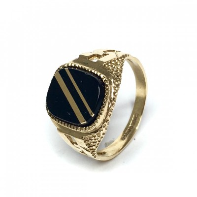 Second Hand 9ct Gold & Onyx Signet Ring