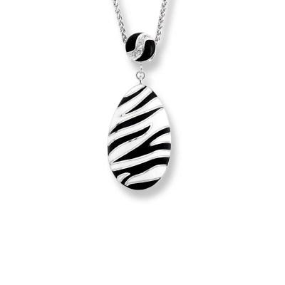 Nicole Barr Streling Silver & Enamel Necklace