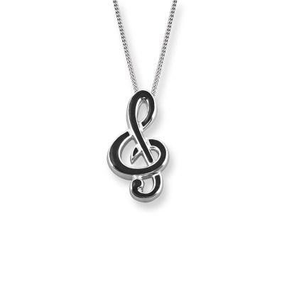 Nicole Barr Silver & Enamel Necklace
