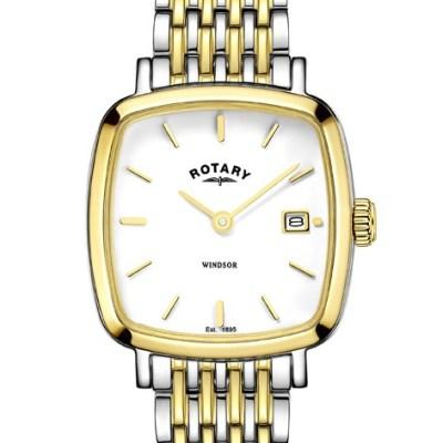 Rotary Ladies Two Tone Windsor Cushion Watch