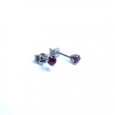 18ct Ruby White Gold Earrings