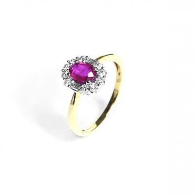 18ct Yellow Gold Ruby & Ring