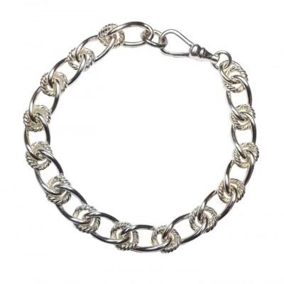 Handmade 9ct White Gold Bracelet