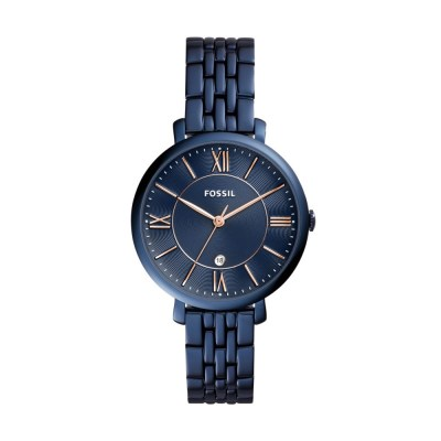 Jacqueline Three-Hand Date Blue Stainless Steel Watch