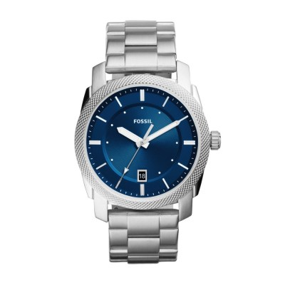 Machine Three-Hand Date Stainless Steel Watch