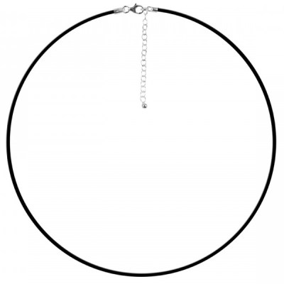Black Rubber Necklace / Choker 16.5″