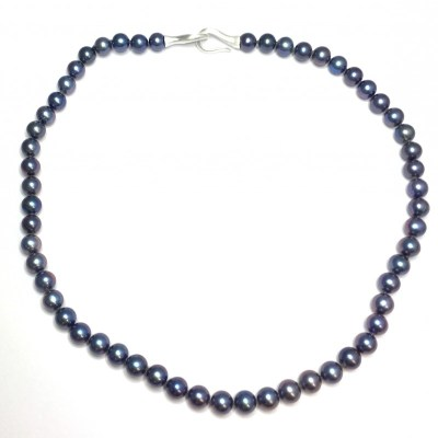 Fresh Water Cultured Pearl Necklace with Silver Clasp