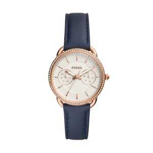 Cvtailor Multifunction Navy Leather Watch