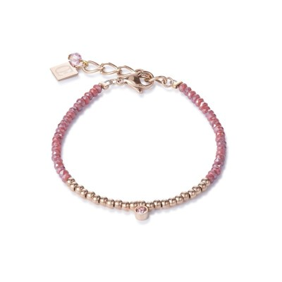 Coeur De Lion Gemstone Ball Strawberry Quartz Bracelet