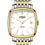 Rotary Mens Two Tone Windsor Cushion Watch