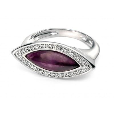 Fiorelli Silver Amethyst Ring