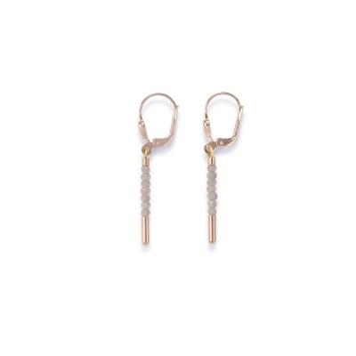 Coeur De Lion Waterfall Rose Gold & Nude Glass Earrings