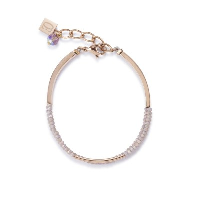 Coeur De Lion Waterfall Rose Gold & Nude Glass Bracelet