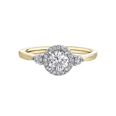 18ct Yellow Gold Diamond Ring