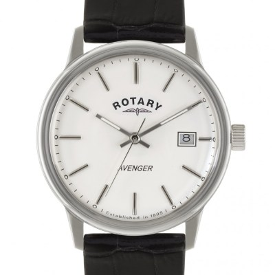 Rotary – Mens Avenger White Dial Black Strap Watch