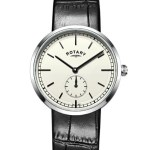 Gents Stainless Steel Canterbury Leather Watch