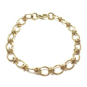 Image of unique hoops bracelet in 9ct yellow gold