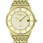 Rotary Ultra Slim Gold Plated Gents Watch